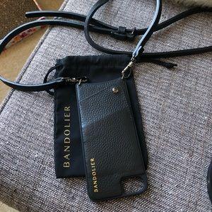 Bandolier phone case, strap, dust bag
